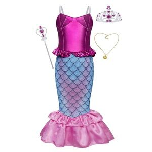 ⭐️NEW⭐️Mermaid Princess Ariel Costume Dress-Up 5-7